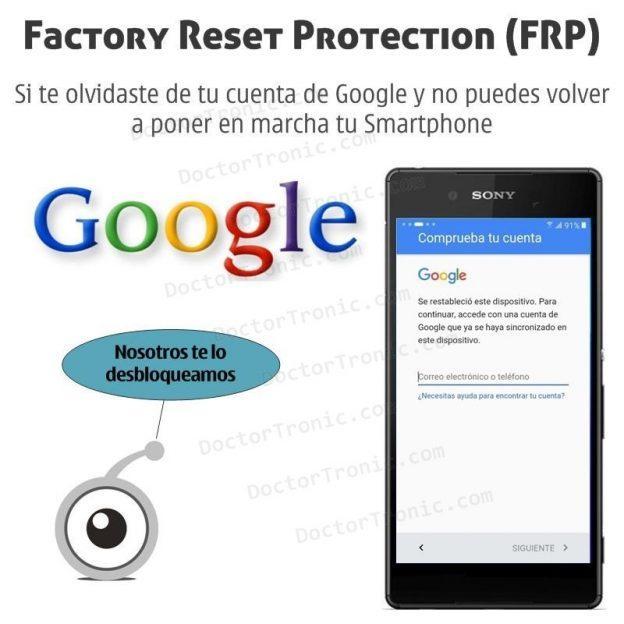 DoctorTronic desbloquea la protección de dispositivos con cuentas Google (FRP)